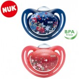 NUK- Freestyle Silicone Soother with Cover Size 1 (0-6m) *1pcs*