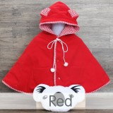 * CuddleMe - Baby Cape Solid *RED*