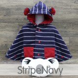 * CuddleMe - Baby Cape *STRIPE NAVY*