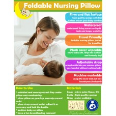 * CuddleMe - Foldable Nursing Pillow *LIME*