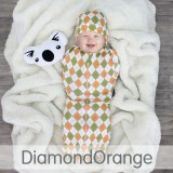 * CuddleMe - Hybrid Swaddlepod Diamond *ORANGE*