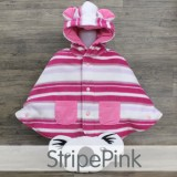 * CuddleMe - Baby Cape *STRIPE PINK*
