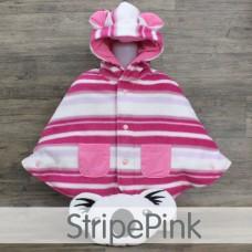 * CuddleMe - Baby Cape *STRIPE PINK*