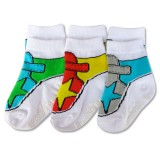 Bumble Bee - Boy Star Shoelike 3 Pair Socks