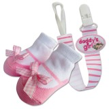 Bumble Bee - Baby Pacifier Clips with Socks Set *Daddy's Girl*