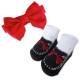 Bumble Bee - Baby Bow Tie with Socks Set *Red*