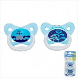 Dr Brown's - Prevent Butterfly Shield Stage 1 Pacifier - Blue (2 PCS) *0-6M*
