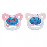 Dr Brown's - Prevent Butterfly Shield Stage 2 Pacifier - Pink (2 PCS) *6-12M*