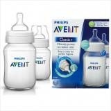 Philips Avent - PP Classic + Feeding Bottle *Twin Pack* 9oz/260ml