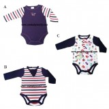 ABaby - Baby Body Suit 1pc (Long Sleeve) *Dino* BEST BUY