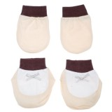 Adorable Mitten Booties Set - Brown