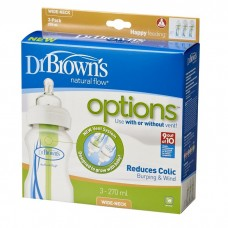 Dr Brown's - 270ml PP Options Wide Neck Bottle 3 Pack
