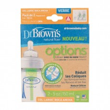 Dr Brown's - 150ml PP Options Wide Neck Glass Bottle 2 Pack