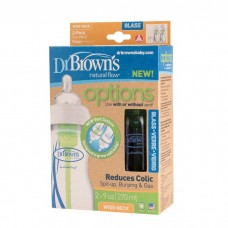 Dr Brown's - 270ml PP Options Wide Neck Glass Bottle 2 Pack