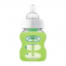 Dr Brown's - 150ml PP Options Wide Neck Glass Bottle Sleeve *Light Green*