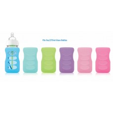 Dr Brown's - 270ml PP Options Wide Neck Glass Bottle Sleeve *Mint*