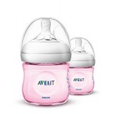 Philips Avent - Bottle Natural 2.0 *125 ML/4OZ* Twin Pack (PINK)