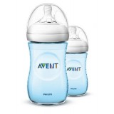 Philips Avent - Bottle Natural 2.0 *260 ML/9OZ* Twin Pack (BLUE)