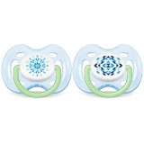 Philips Avent - Contemporary Free Flow Soother 0-6M (Blue) *BEST BUY*