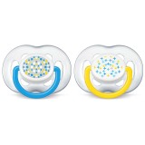Philips Avent - Contemporary Free Flow Soother 6-18M (Blue) *BEST BUY*