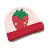 Earth Bebe - Embroidery Newborn Hat (Strawberry)
