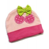 Earth Bebe - Embroidery Newborn Hat (Pink Cherry)