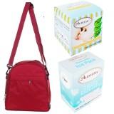 Autumnz - Classique Cooler Bag Complete Set *4pcs* (Scarlet Checks)