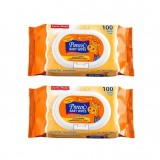 Pureen - Baby Wipes 100's x2 (Fragrance Free) *BEST BUY*