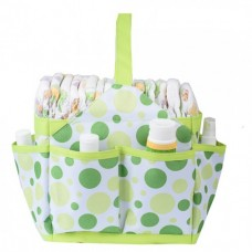 Autumnz Portable Diaper Caddy (Lime Polka)