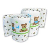 Bumble Bee - 2pc Cot Bumper (Knit Fabric)