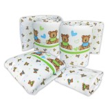 Bumble Bee - 4pc Crib Set (Knit Fabric)