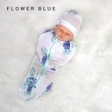 * CuddleMe - Hybrid Swaddlepod *FLOWER BLUE*