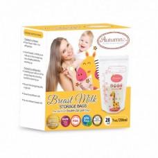 Autumnz -Double Zip Lock Breastmilk Storage Bag (28 bags) *7oz* (GIRAFFE)