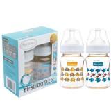 Autumnz - PPSU Wide Neck Feeding Bottle 6oz/180ml (Twin Pack) *Ellie Elephant / Marine Blue*