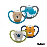 NUK- Space Silicone Soother S1 W/Cover (0-6m) *2pcs*