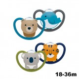 NUK- Space Silicone Soother S3 W/Cover (18-36m) *2pcs*