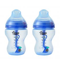 Tommee Tippee - CTN Anti Colic Plus Twin Bottle 260ml - Blue