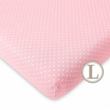 Comfy Living -  Fitted Sheet (L) 70X130cm  *Pink Dot*