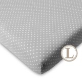 Comfy Living -  Fitted Sheet (L) 70X130cm  *Grey Dot*