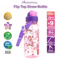 Autumnz - Flip Top Straw Bottle 650ml /22oz *BEST BUY*