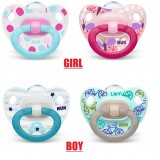 NUK - Orthodontic Happy Days Silicone Soother  (6-18M) *2pcs*