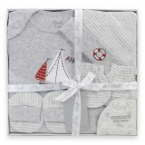 Lilsoft Baby - 4pcs Gift Box *LI-3106 Sailboat*