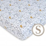 Comfy Living -  Fitted Sheet (S) 60X120cm  *Jungle Blue*