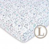 Comfy Living -  Fitted Sheet (L) 70X130cm  *Elephant Green*
