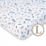Comfy Living -  Fitted Sheet (L) 70X130cm  *Sparrow Pink*