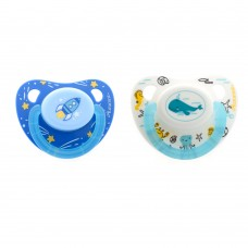 Autumnz - Orthodontic Baby Silicone Soother With Hygiene Cover (TWIN PACK) *Size S,M,L*