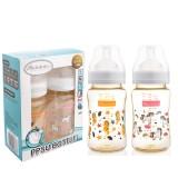 Autumnz - PPSU Wide Neck Feeding Bottle 8oz/240ml (Twin Pack) *Speedy Seahorse / Rainbow Unicorn*