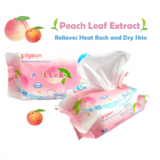 Pigeon - Baby Wipes with Peach Leaf 80's (3in1) *BEST BUY*