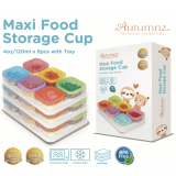 Autumnz - Maxi Food Storage Cup (4oz x 6pcs) *BEST BUY*