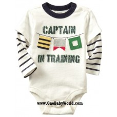 Adorable - LS Romper *Captain In Training*